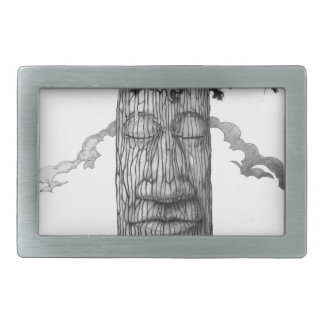 A Mighty-Tre-Cover-B&W Rectangular Belt Buckles