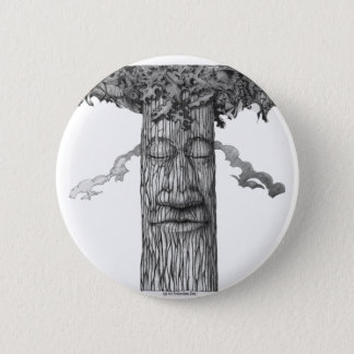 A Mighty Tree Cover B&W 2 Inch Round Button