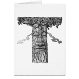 A Mighty Tree Cover B&W Card
