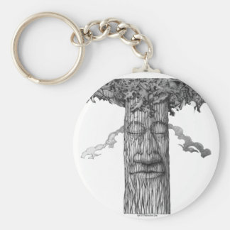 A Mighty Tree Cover B&W Keychain