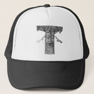 A Mighty Tree Cover B&W Trucker Hat