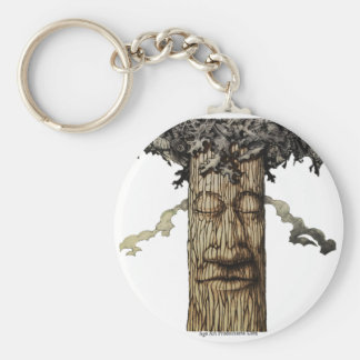 A  Mighty Tree Cover Basic Round Button Keychain