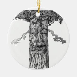 A Mighty Tree Cover &W Ceramic Ornament