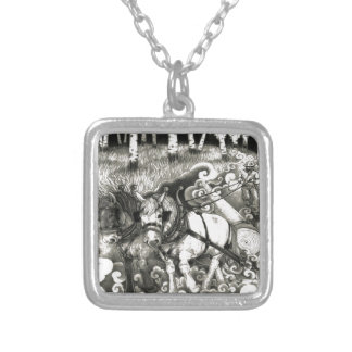 A-MIGHTY-TREE-P14 Orig. Silver Plated Necklace