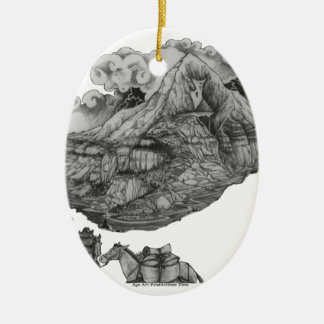 A-mighty-Tree-Page52k Ceramic Oval Ornament