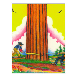 A MIGHTY TREE Page 8 Orig Postcard