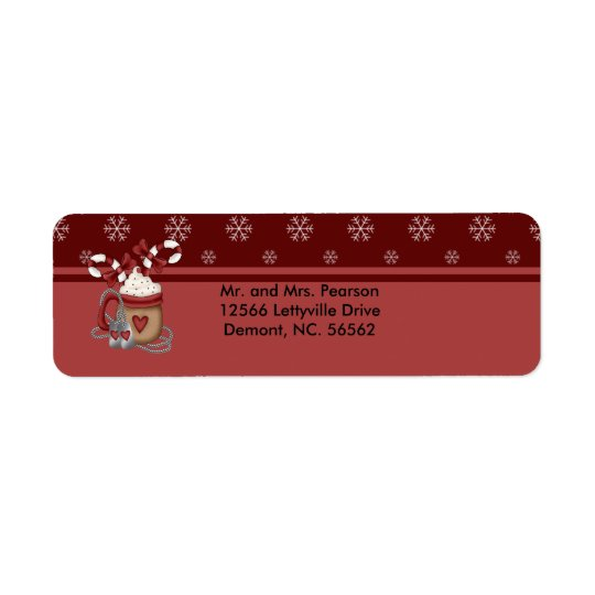 A Military Christmas Return Address Label