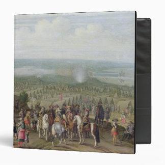 A Military Encampment with Militia on Horses, Troo Vinyl Binders