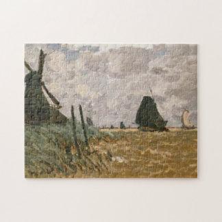 A Mill near Zaandam Monet Fine Art Jigsaw Puzzle
