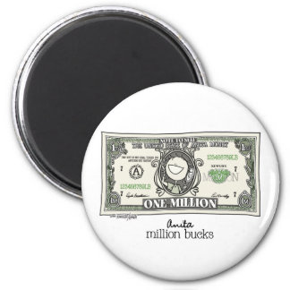 A million for Women 2 Inch Round Magnet