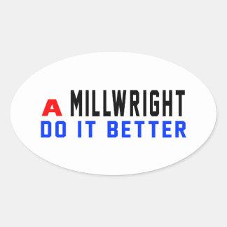 A Millwright Do It Better Oval Sticker