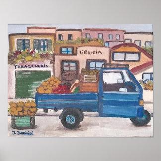 """A mini market truck - 14""""x11"""" Poster"""