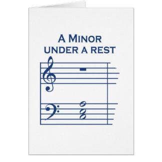 A Minor Greeting Card