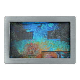 A Mission District Mural III Rectangular Belt Buckle