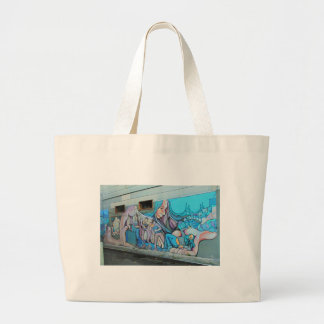 A Mission District Mural Large Tote Bag