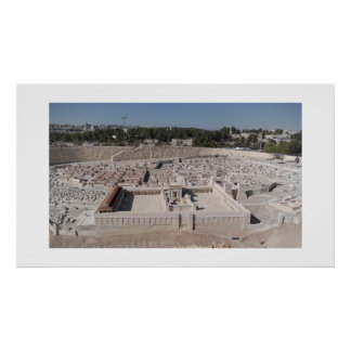 A model of Herod's temple Poster