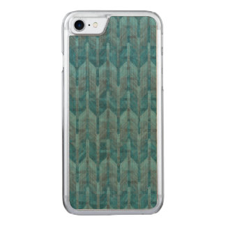 A Modern Abstract Colorful Blue Wave Pattern Carved iPhone 7 Case