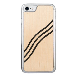 A Modern Abstract Wave Pattern Carved iPhone 7 Case