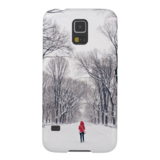 A Modern Little Red Riding Hood in Central Park Case For Galaxy S5