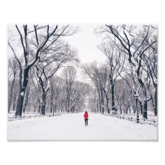 A Modern Little Red Riding Hood in Central Park Photo Print