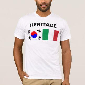 À moitié coréen, à moitié italien t-shirt