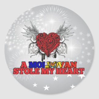 A Moldovan Stole my Heart Classic Round Sticker