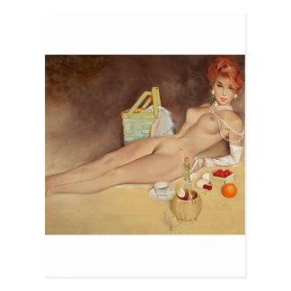 A moment of pleasure Pin Up Art Postcard