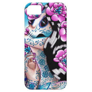 A Moment of Silence- Tattooed Sugar Skull Girl iPhone 5 Cases