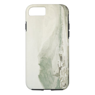A monastery in an alpine valley (grey & blue washe iPhone 7 case