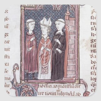 A Monk, a Bishop and an Abbot Square Sticker