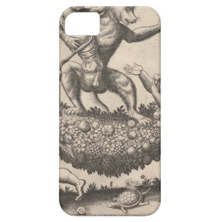 A monkey holding a bound putto standing on a garla iPhone 5 covers