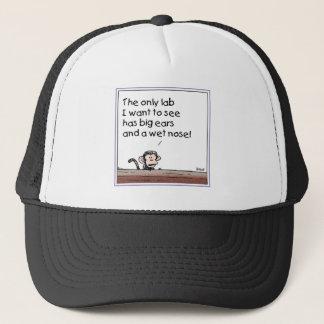 A Monkey talks about labs Trucker Hat