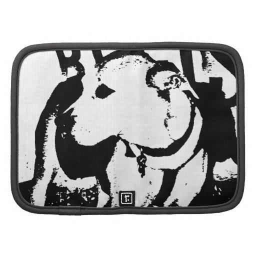 A monochromatic mixed breed Pitbull puppy dog Folio Planner