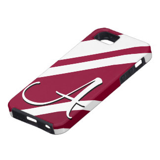 A Monogram Crimson & White-Striped IPhone 5 Case