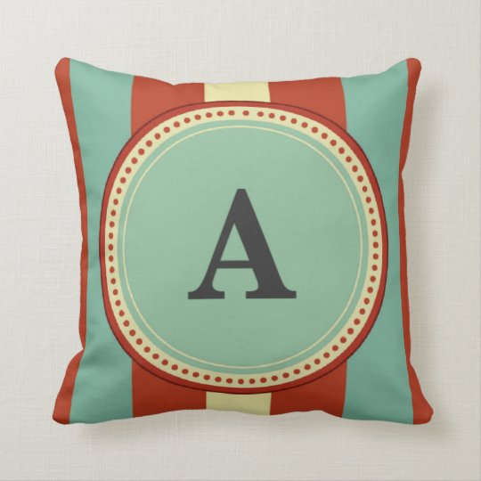 'A' Monogram Throw Pillow