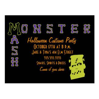 A Monster Mash Postcard