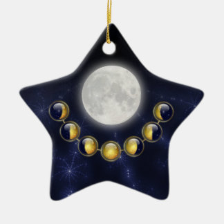 A Month in the Life of the Moon Ornament