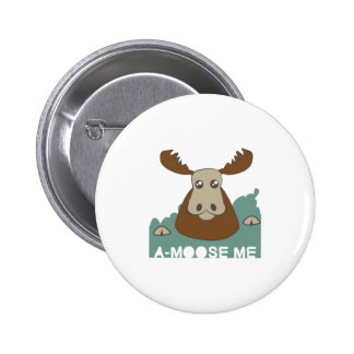 A-Moose Me Pinback Buttons