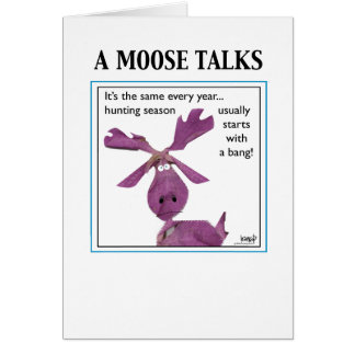 A Moose Talks Card