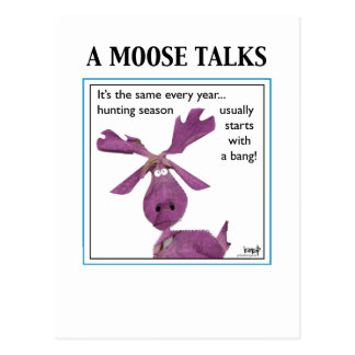 A Moose Talks Postcard