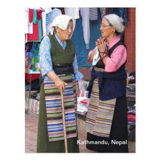 A Morning Chat at Boudha Stupa Postcard