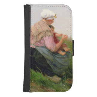 A Mother and her Small Children Galaxy S4 Wallet