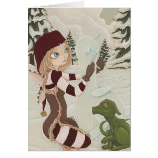 A Mother For Charlie- Dragon Fairy Christmas Card