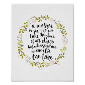 A Mother Is Everything Quote Poster