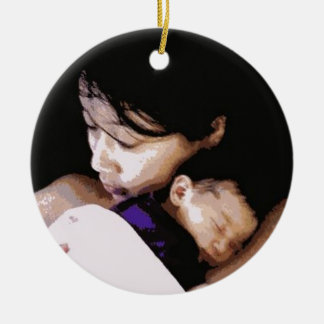 """A Mother with her Newborn"""" ornament"""