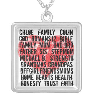 A Mother's Heart Silver Plated Necklace