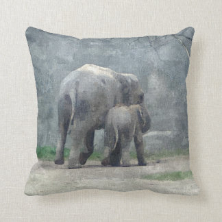 A Mothers Love Elephant Pillow