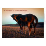A mother's love greeting card