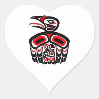 A Mother's Love Heart Sticker