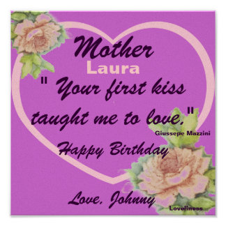 A Mother's Love Poster-Customize Poster